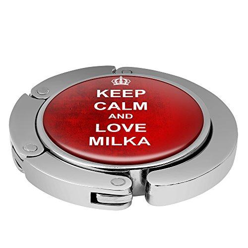 Taschenhalter Keep Calm Personalisiert mit Namen Milka printplanet Chrom