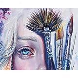 JHDGL Pintura por Número de Kits Maquillaje Mujer DIY Pintura al óleo para Adultos Niños Principiantes con Pinturas acrílicas y Pinceles 16 * 20 Pulgadas(Sin Marco)