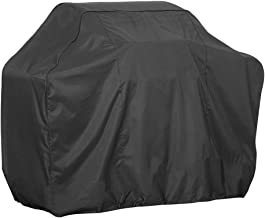 Comily Plus+ Basic BBQ Grill Cover 210D Waterproof with Adjustable Cord Lock Fit Square Grill(58x24x46inch)-Black Color
