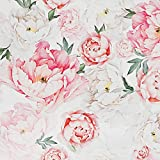 Dvegort Peel and Stick Wallpaper Contact Paper - Floral Self Adhesive Wallpaper,Waterproof Kitchen Backsplash,Removable Wallpaper for Wall, Furniture 17.7' x 118.11' (Pink)
