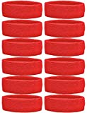Unique Sports Team Headbands (Pack of 12), Red