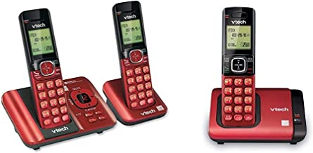 $62 » VTech CS6529-26 DECT 6.0 Phone Answering System with Caller ID/Call Waiting, 2 Cordless Handsets, Red & S6719-16 DECT 6.0 ...