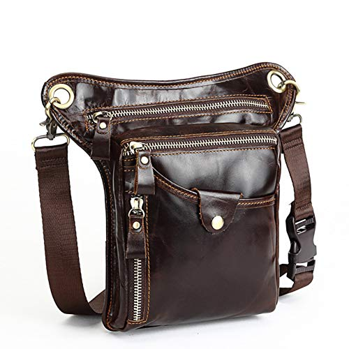 Leather Shoulder Crossbody Retro Fashion Multifunctional Casual Bag Lightweight Sling Bag Briefcase Bag Business Trip Work Meeting Office Business Talk