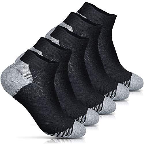 Ballot 靴下 メンズ スポーツソックス-ランニングソックス 5足組 (ブラック)
