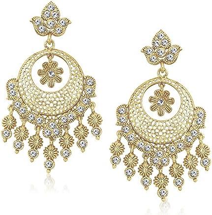 MEENAZ Jewellery Gold Plated Ear Rings for Girls in American Diamond Earring for Women in Jewellery Necklace earring-TR137