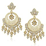 MEENAZ Jewellery Gold Plated Ear Rings for Girls in American Diamond Earrings for Women in Jewellery Necklace Earring Latest design-TR137