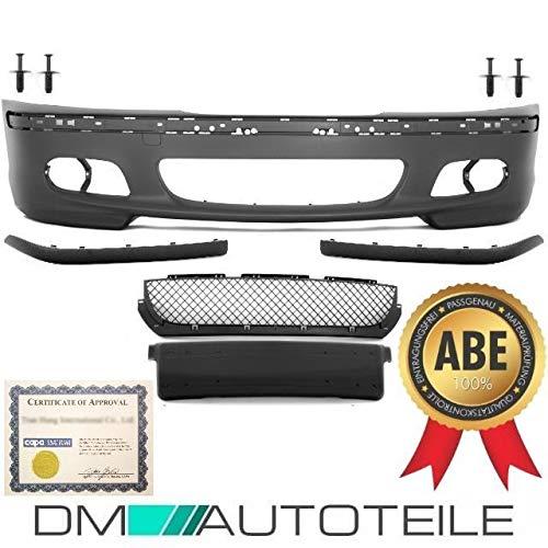 DM Autoteile ABE* ZULASSUNG Stoßstange vorne + Zubehör für M-Paket M+ passt für 3er E46 98-05
