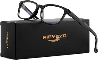 Kids Blue Light Blocking Glasses Silicone Flexible Square Eyeglasses Frame with Glasses Rope, for Children Age 3-12