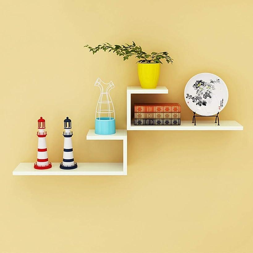 嵐の不規則な懇願するYIXIN ウォールシェルフウォールリビングルーム単語ワードパーティション壁掛けラミネート棚現代のシンプルな装飾 (色 : #1)