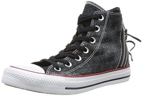 Converse Chuck Taylor All Star Femme Sparkle Wash Tri Zip Hi 382520 Damen Sneaker, Schwarz, 36 EU