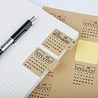 2個のカスタムクラフト紙カレンダーステッカー手書きカレンダーデカールノートブックインデックスラベル家庭用冷蔵庫壁の装飾20202021