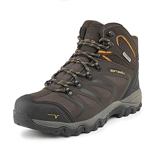 NORTIV 8 Men's 160448 Brown Black Tan Ankle High Waterproof Hiking Boots Outdoor Lightweight Shoes Backpacking Trekking Trails Size 14 M US