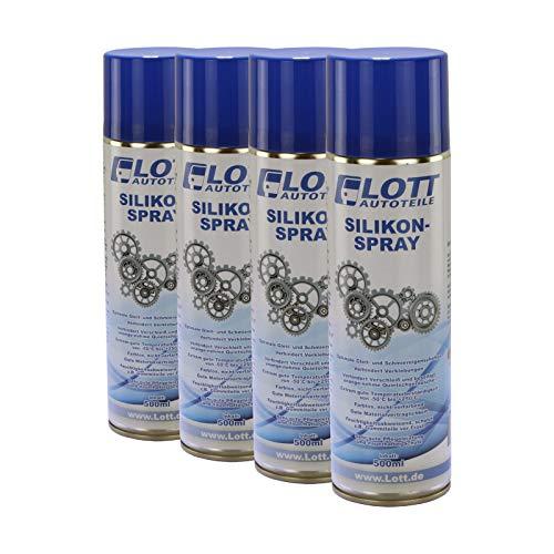 4X Lott Silikonspray 500ml / Silikon Spray Schmierstoff Schmiermittel Siliconespray