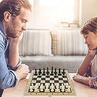 Scacchi in Legno 3 in 1 Set di Scacchiera in Legno Dama Giocattolo da Backgammon Pieghevole Portatile per Viaggio Giocattoli Educativi per Adulti Bambini (29x29 cm) #3