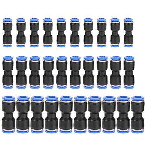 30 Piezas Conector Neumático Recto, Conectores Accesorios Neumáticos, Accesorios Neumáticos Empuje En Reductores Rectos Para 8 mm 10 mm 12 mm Tubo