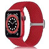 WNIPH Cinturino Solo Loop intrecciato compatibile con Apple Watch 38 mm 40 mm 42 mm 44 mm fibbia in acciaio inox elastico di ricambio cinturino Sport Loop iWatch Series 6/SE/5/4/3/2/1 uomo donna