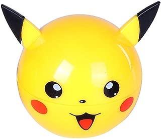 3 Piece Pikachu & Pokeball Themed Herb Grinder with Pollen Sifter & Catcher (Pikachu)