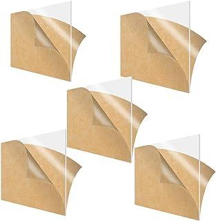 JIZHU 1Pcs Clear Acrylic Sheet Panel Plastic Plexiglass Board for Signs 11.8inch 11.8inch DIY Display 30cm x 30cm Thickness:,8mm