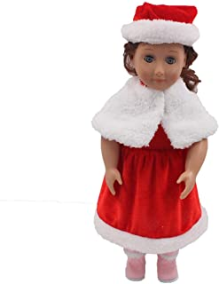 KGYA Doll Clothes Gift for 18 inch Doll,4 pcs Baby Girl Dress Outfits Costumes for American Dolls Xmas Gifts (Christmas)
