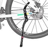WOTEK Soporte de Bicicleta, Soporte Lateral Bicicleta Universal Aleación de Aluminio Soporte de Goma Antideslizante, Bicicleta de Montaña, Bicicletas Plegable, Altura Ajustable | 24-29 Pulgadas