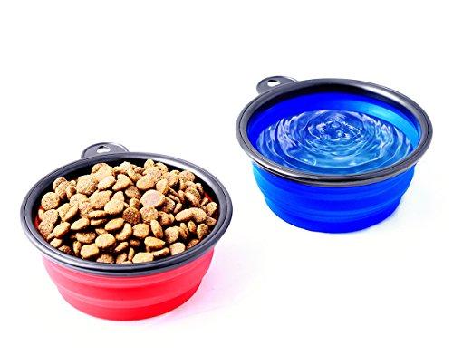 Reisenapf von der Marke PRECORN Hunde Katzen Haustier Futternapf faltbarer Napf Trinknapf Wassernapf in der Farbe blau - 4