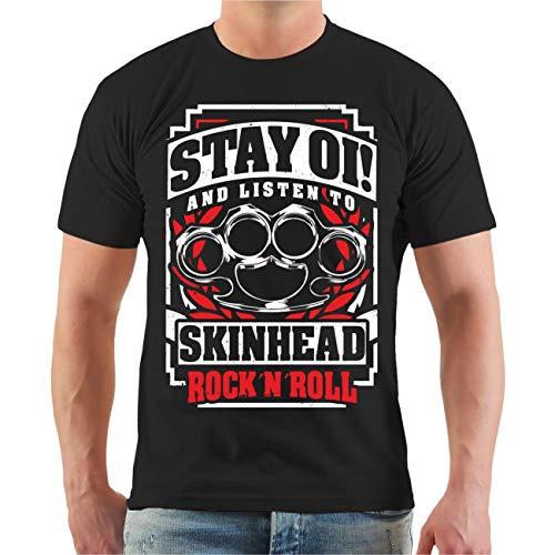 Life Is Pain Männer und Herren Tshirt OI Skinhead Rockn Roll Größe S - 8XL
