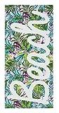 Catherine Lansfield asciugamano spiaggia tropicale multi, cotone, multicolore, 160x 76x 0.4cm