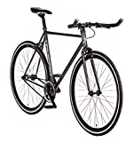 "7. Big Shot Bikes | Dublin Black | Fixie Track Bike | Single Speed or Fixed Gear | Matte Black & Black Accents | for Men & Women | Rider Height 5'7"" to 5'11"" 