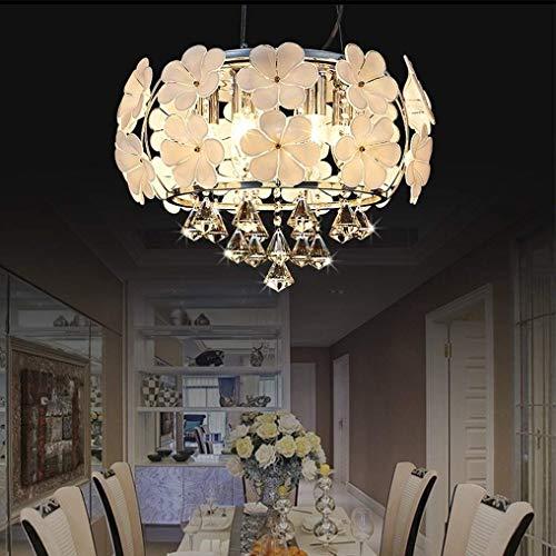 MDSQ Moderno LED Romántico Jardín De Infantes Ropa De Mujer Restaurante Araña Simple Flores De Boda Europeas Araña De Cristal 40 CM, E14 Máximo 40 W Dormitorio