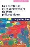 La Dissertation Et Le Commentaire De Texte Philosophiques