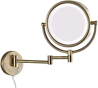 مرايا للمكياج، مرآة فانيتي قابلة للطي بجانبين من النحاس مع قابس كهربائي