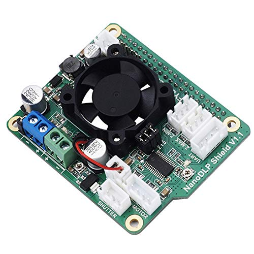 RETYLY NanoDLP Shield V1.1 Expansion Board with DRV8825 Controlled MOS for Raspberry Pi 3B and Light-Cured 3D Printers
