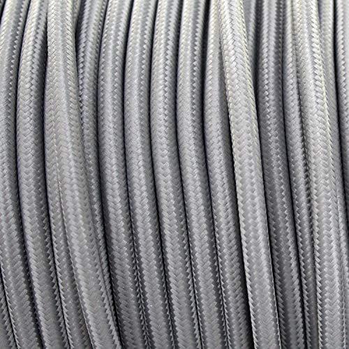 smartect Cable para l/ámparas de tela en color Azul Marino 3 x 0,75 mm/² Cable textil trenzado de 5 Metro - Cable de luz con revestimiento textil 3 hilos