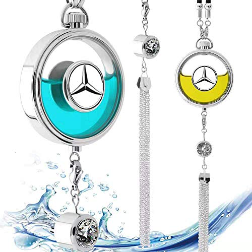 VILLSION Car Logo Duft Lufterfrischer Rückspiegel Parfüm Anhänger Duftspender mit Geschenkbox