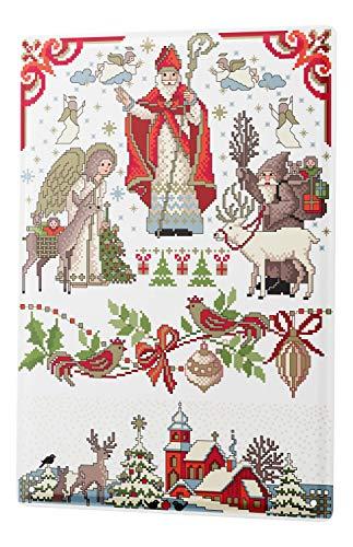 LEotiE SINCE 2004 Blechschild Wandschild 30x40 cm Vintage Retro Metallschild Weihnachtsmann Lindner Advent Weihnacht