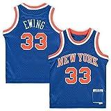THDB Camiseta de baloncesto personalizada Patrick New York NO.33 Azul, Knicks Ewing infantil Jubilado Jugador Jersey de Secado Rápido Deportes Manga Corta Para Niños