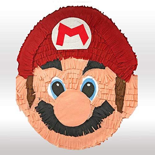 Pignatta Super Mario (pentolaccia, piñata) Gioco della pignatta per feste di compleanno per bambini. Prodotto artigianale. Made in Italy. Da riempire. HxLxP 55x50x12cm