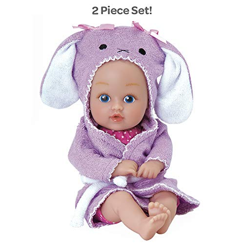 Adora Baby Bath Toy Bunny, 8.5 inch Bath Time Baby Tot Doll with QuickDri Body