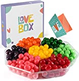 Love Box Sour Candy Variety Pack – Sweet Candy Gift Box – Chewy Sour Balls Assorted Candy Box for Birthdays, Holidays, Family Occasions and More - Food Munchies Love Care Package for Adults & Kids - Soft Fruity Flavors - Made in the USA