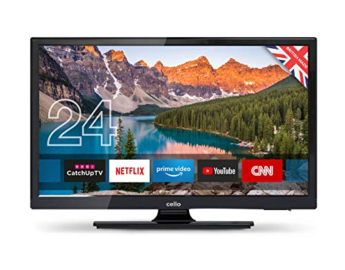 """Cello C24SFS 24"""" Superfast Smart LED TV with Wi-Fi and Freeview T2 HD - Manufactured in the UK"""