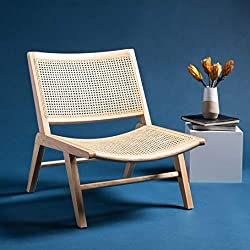 Amazon Safavieh Couture Auckland Natural Rattan Chair