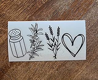 Practical Magic Car Decal, Witchy Things Sticker, Salt, Rosemary, Lavender, Love