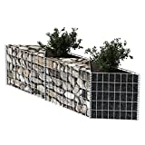 Festnight Gabion Wall Baskets Gabion Stone Wire Steel Silver 150 x 30 x 50 cm for Home Design or Vegetable Bed