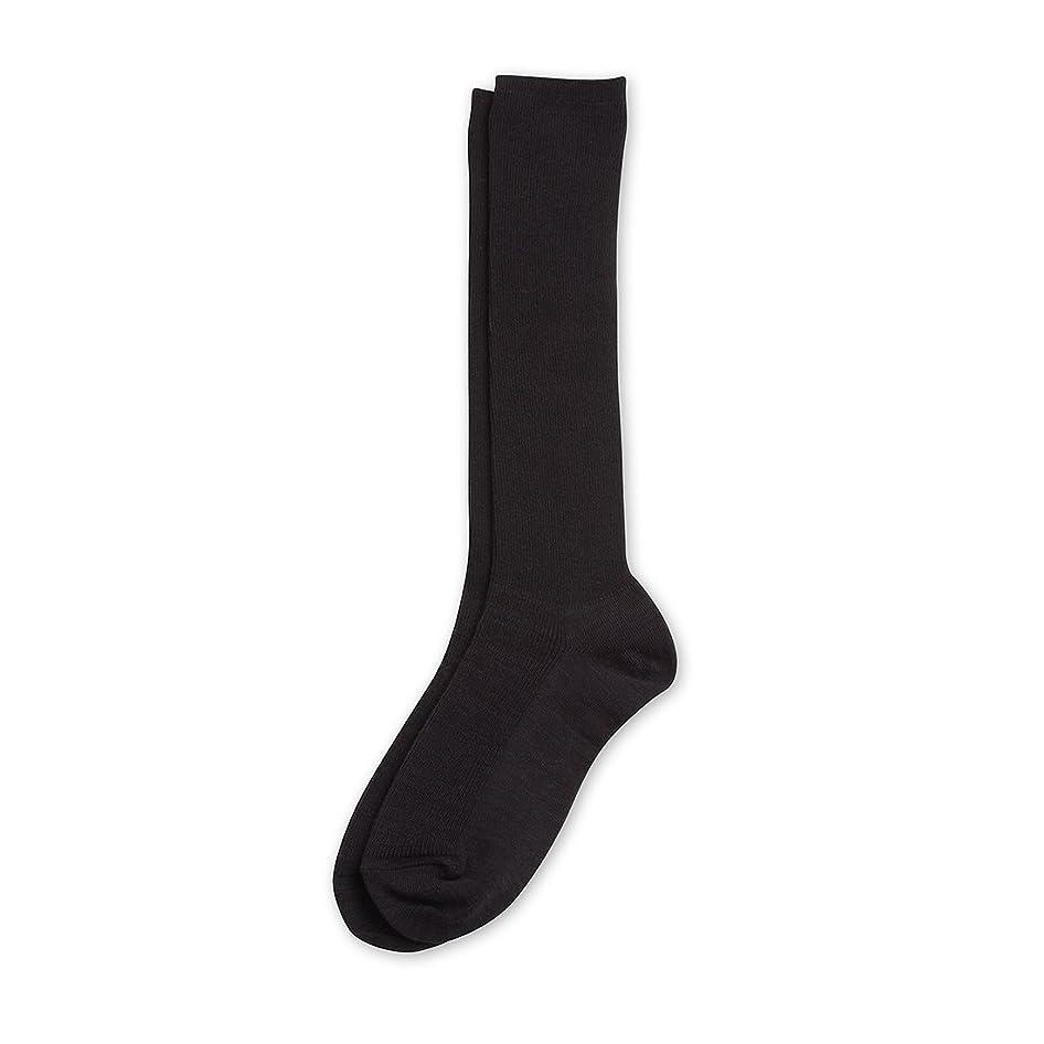科学ダースあいさつDeol(デオル) ハイソックス 女性用 日本製 靴下 黒 23cm-25cm