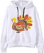 NANTE Top Women's Blouse Thanksgiving Turkey Graphic Hooded Sweatshirt Christmas Shirt Xmas Blouses Long Sleeve Pullover Tops