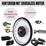 Kaibrite - Kit de conversión para bicicleta eléctrica de 28 pulgadas, 36 V, 250 W, 48 V, 1000 W, controlador de motor, rueda trasera (48 V, 1000 W)