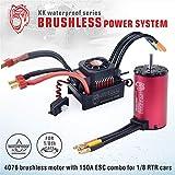 Surpass KK Series Waterproof Brushless 4076 2000KV Motor + 150A ESC for 1/8 RC Car