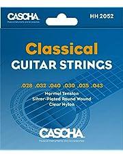 CASCHA Premium corde per chitarra classica - di alta qualità in acciaio al fosforo di bronzo corde per chitarra classica (set di 6 corde) - tensione normale