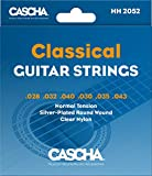 CASCHA Premium Classical Guitar Strings, Acoustic Guitar, Nylon, Silvered Copper Wire
