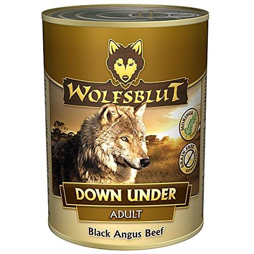 Wolfsblut | Down Under | 6 x 395 g | Black Angus Beef | Nassfutter | Hundefutter | Getreidefrei